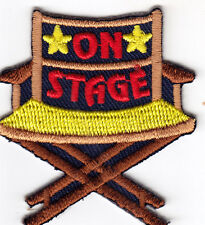 """""""ON STAGE"""" - Iron On Embroidered Applique Patch/Movie, Games, Acting, Talent"""