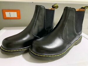 DR Martens filettatura 7A52 Uomo Donna nero 15902001 industriale GRIZZLY Stivali di sicurezza