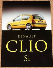 1999 RENAULT CLIO Si Sales Brochure - Mint Condition Brand New Old Stock!