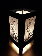 Asian Oriental Japanese Cherry Blossom Tree Art Bedside Desk Table Lamp