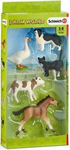 Schleich Farm World 5 Farm Animal Figure Set 42386 - Farm Toy - New