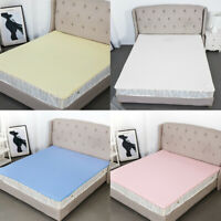 Non-slip Bed Sheet Mattress Protector Cover Breathable Waterproof Washable