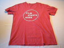 "Distinct ""Film Starts Here"" Short Sleeve T-shirt Men's Size L"