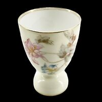 Antique Elite Limoges Porcelain Double Egg Cup Gold Trim Lilies Flowers France