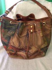 Limited Ed Rare Vampiro Italian Leather Bucket Bag w/Hispania Clippership Melran