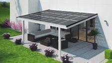 Terrassendach Solar 6 x 3 m Terrassenüberdachung mit Photovoltaik & Verschattung