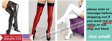 Sexy Long Spandex Latex Rubber Faux Leather Stockings Thigh High Tights Socks