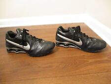 Used Worn Size 13 Nike Shox Conundrum Shoes Black Silver Gray White