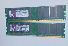 2x 512MB DDR 400 PC3200 RAM MEMORY 1GB KINGSTON ValueRAM KVR400X64C3A/512