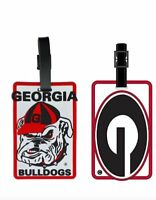 Georgia Bulldogs ID Tag Travel Bag Tag Luggage Tag - Oval G or Bulldog Head Logo