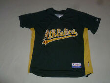 VINTAGE OAKLAND ATHLETIC #33 JERSEY THROWBACK SHIRT HENLEY SIZE L BASEBALL MLB