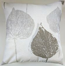 "Cushion Cover in Next Tranquil Leaf Natural 16"" Matches Curtains"