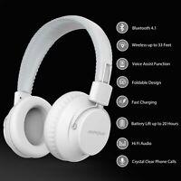 Mpow Foldable Wireless Headset Over Ear Bluetooth Headphones Earbuds Super Bass