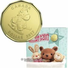 Canada 2017 New Baby 5 Coin Mint Gift Set w $1 Rocking Horse Hobby Loonie Dollar