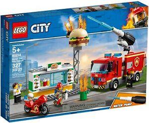 Lego City Burger Bar Fire Rescue 60214 (2019)