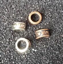 5 Herz Beads Großloch Perlen Paracord Armband Großlochperlen H29