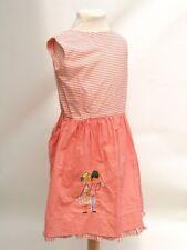 #1025 - Vintage Mädchen Kleid - Carabi - 60er Jahre - Streifen Koralle 5/6 Jahre