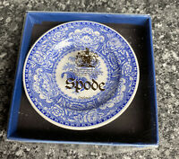 "Vintage Spode Willow 3"" Mini Plate Boxed The Spode Blue Room Floral Series New"