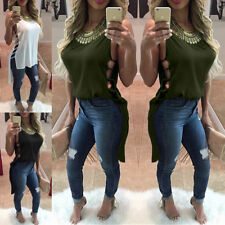 Sleeveless Fitted Chiffon Tops & Shirts Plus Size for Women