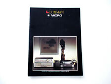 Luxman Micro Katalog Prospekt 1984 / 85 Hifi Audio Technik Broschüre HI-FI 1985