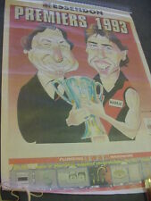 AFL Essendon Premiers 1993 news Poster (SundayHerald) Schneider STORED ROLLED