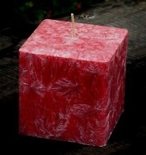 200hr LIME ROSES Triple Scented Natural Square Candle FLORAL FRAGRANCED GIFT