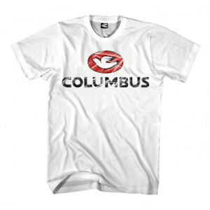 Columbus Scratch Bicycle Cycle Bike T-Shirt White