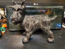 Vintage Cast Iron Schnauzer Dog Statue