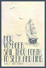 Walt Whitman Now Voyager Poster Print, 13x19