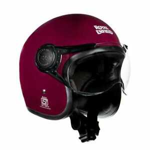 "Fit For - Royal Enfield Helmet Jet ""Love Power Respect"" - Purple"