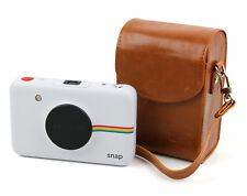 Retro Box-Style Case in Tan Brown in Faux Leather for Polaroid Snap