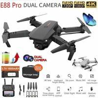 4K HD 1080P Drone X Pro 6 Axis Foldable RC Quadcopter Dual Camera WiFi FPV GPS