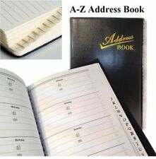 A-z Address Telephone Directory Index Black Slim A5 Office Desktop Records