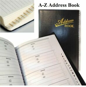 A-Z Address Telephone Book Office Phone Directory Dairy A to Z Index Book Black