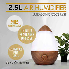 2.5L Ultrasonic Humidifier Steam Aroma Vaporiser Diffuser Purifier Cool Mist USA