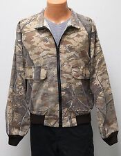 vtg Cabela's LEAF CAMO HUNTING JACKET LARGE 90s Tree made USA L soft Skyline