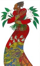 Lilies Giclee Edition 300 Ethnic Expressionism Art  by Charles Bibbs