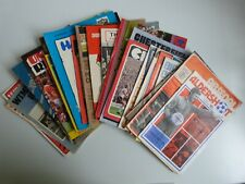 40 X 1970's  PROGRAMMES - ALL DIFFERENT HOME TEAMS - SEE PHOTOS - GOOD CONDITION