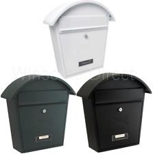 Matt Finish Galvanised Metal Letter Mail Post Box Outdoor Wall Mounted Lockable