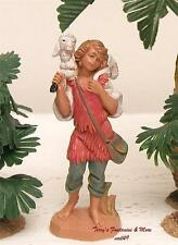 "FONTANINI DEPOSE ITALY 4"" GABRIEL w/SHEEP NATIVITY VILLAGE FIGURE NEW NO BOX"