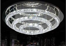 Modern Luxury LED Round 3 side Crystal Lamp 3 Tier Ring Ceiling Light Lighting