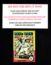 1975 TOPPS BASEBALL SELECT FROM OUR LIST #401 TO #500