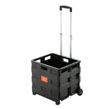 Foldable Shopping Cart Portable Collapsible Two-Wheeled Trolley Crate Picnic