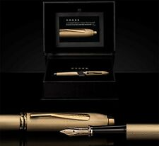 Cross Townsend 20th Anniversary Fountain Pen, Heavy Gold Plate, Solid 18K Nib