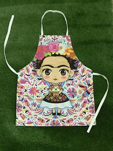frida kahlo mexican apron mandil unisex one size unitalla