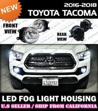 for 16 17 18 TOYOTA TACOMA LED Fog Light Replacement Housing Lamp (CLEAR/PAIR)