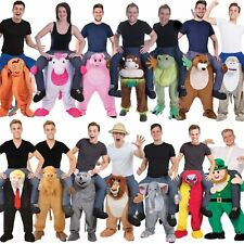 Piggy Back Costume Ride On Carry Shoulder Fancy Dress Adult Womens Mens Outfit