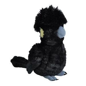 "Wild Republic Cuddlekins Black Yellow Tailed Cockatoo 12"" Soft Plush Toy"