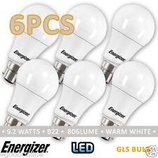 Energizer 240V B22 9.2W LED Light Bulb - Warm White Frosted 6Pcs