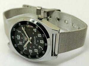 seiko 5 automatic men's steel railway time 7009 vintage japan watch run order